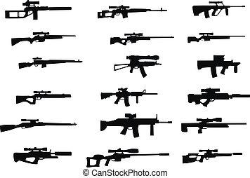wapens, bereik, sluipschutter
