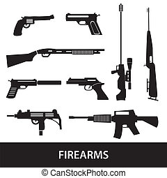 wapens, boordgeschut, eps10, vuurwapens, iconen