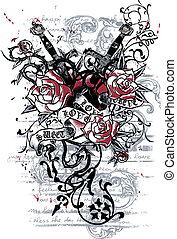 wapens, hart, tatoeëren