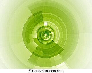 wapno zieleń, cyfrowy, ognisko