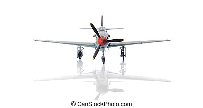 war airplane - Isolated miniature model of war airplane