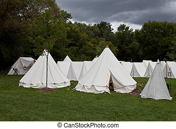 War camp tents - War camp tent from re-enactment of the ...