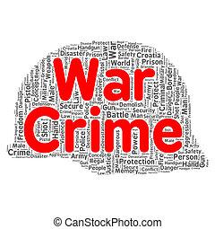 War crime word cloud concept