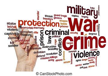 War crime word cloud