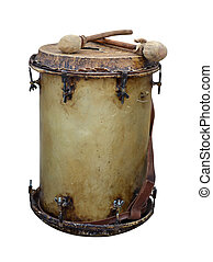 war drum isolated on white background