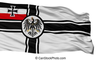 War Ensign Of Germany 1903 1918 Flag Isolated Seamless Loop