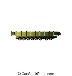 War green camo machine, carry nuclear ballistic rocket