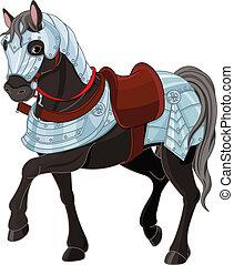 War horse - Illustration of black war horse