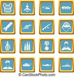 War icons azure