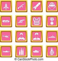 War icons pink