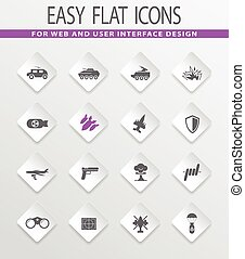 war icons set