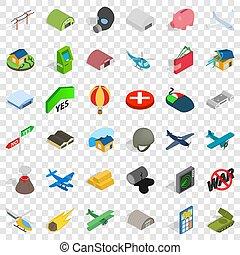 War icons set, isometric style