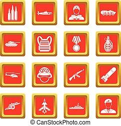 War icons set red