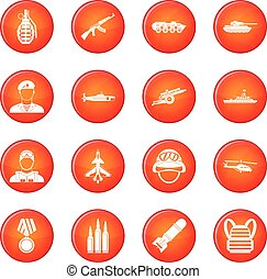War icons vector set