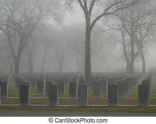 war memorial headstones - Soldier's memorial headstones in...