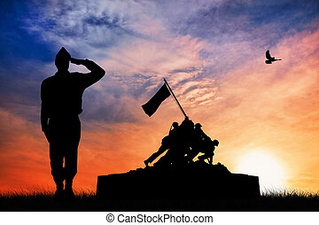war memorial illustration - The United States Marine...