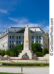 War memorial in Budapest - War memorial of world war II in...