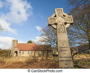 War memorial in front of english church