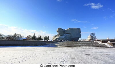 War monument to the brave, Brest fortress, Belarus - Soldier...