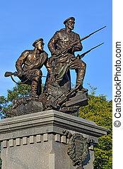 war., monumento, kaliningrad, mundo, russ, héroes, primero