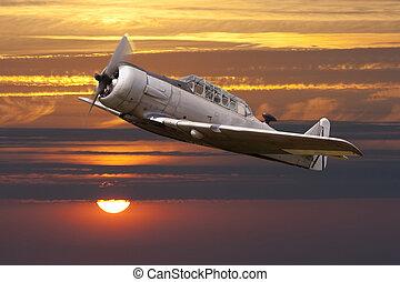 war propeller fighter plane