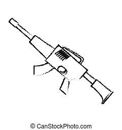 War rifle silhouette for soldiers navy tool