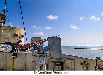 war ship anti air gun - anti air gun in ruin war ship