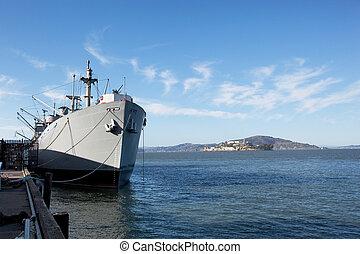 War Ship at Dock