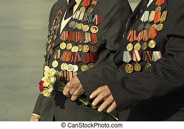 war veterans - Victory Day in Russia
