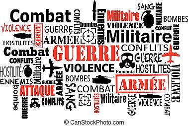 war violence word cloud vector