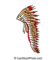 Warbonnet Feather hat colorful fashion accessory
