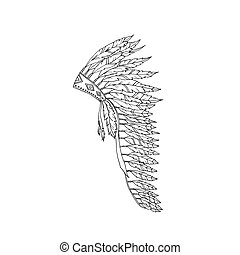 Warbonnet Feather hat coloring page fashion accessory
