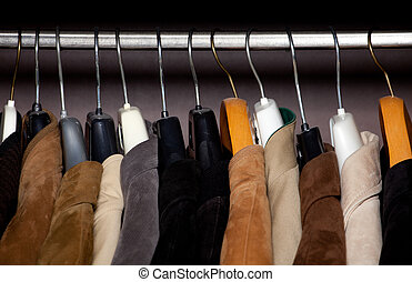 wardrobe closeup horizontal shot
