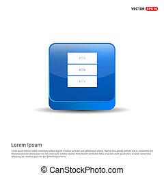 Wardrobe furniture icon  - 3d Blue Button