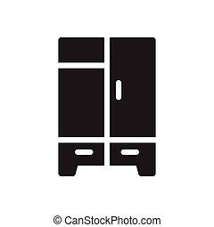 wardrobe  glyph flat icon