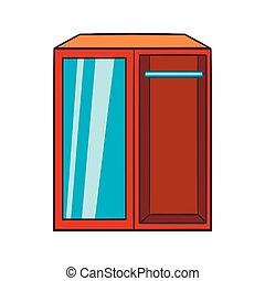 Wardrobe icon, cartoon style