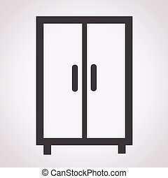 Wardrobe clipart black and white  Sketched vintage wardrobe. Sketched vintage wardrobe isolated on ...