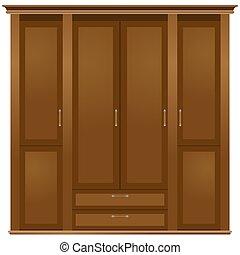 Wardrobe - Case furniture. Wardrobe. The illustration on a...