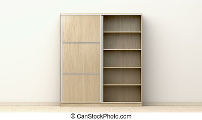 Wardrobe in the room - Wardrobe with sliding doors in the ...