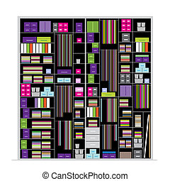Wardrobe inside, illustration for your design