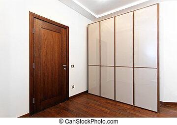 Wardrobe - New wardrobe room with white doors