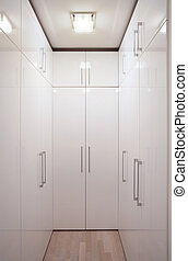 Wardrobe  - Interior of a simple and large wardrobe.