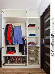 wardrobe with closing - white modern wardrobe withfemale red...