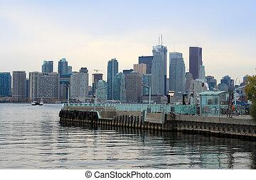 Ward's Island pier, Toronto