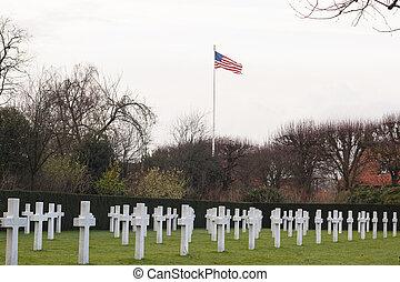 waregem, 墓地, 1(人・つ), フィールド, アメリカ人, フランダース, ベルギー, 世界, 戦争
