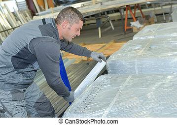 warehause worker in hardware store