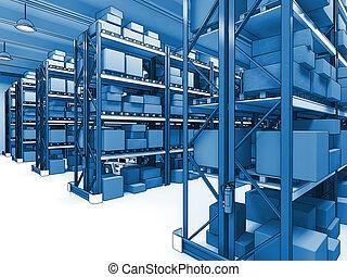 warehouse 3d - fine 3d classic warehouse background