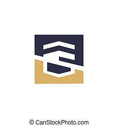 Warehouse abstract sign - Branding Identity Corporate logo...