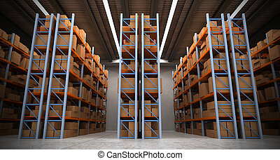Warehouse background b