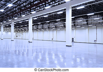Warehouse - Big and still empty manufacturing warehouse